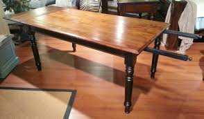 Dining Room Table With Leaf by Rectangular Varnished Mahogany Table With Leaf Extension With