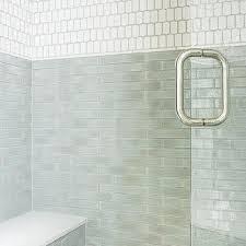 Jade Green Shower Backsplash Tiles Design Ideas - Shower backsplash