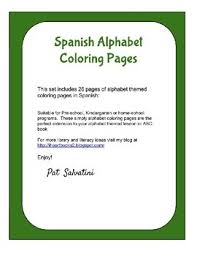 spanish alphabet coloring pages by i heart books too tpt