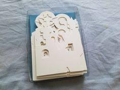 vintage greeting card tree bulb honeycomb hallmark