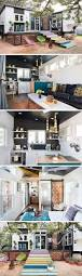 best ideas about tiny homes interior pinterest small but mighty this home packs colorful punch built two gooseneck trailers the features hammocks removable deck screened