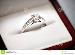 wedding ring in a box engagement ring in box stock images image 14312424