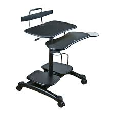Sit Stand Computer Desk by Cotytech Ct Pch Ergonomic Sit Stand Computer Desk The Mine