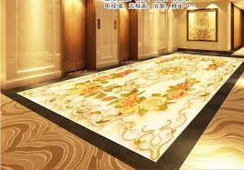 custom 3d pvc flooring waterproof self adhesive wallpaper jade