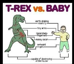 Funny T Rex Meme - t rex vs baby