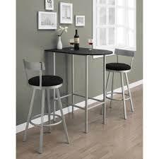 Tall Kitchen Tables by Monarch Metal Pub Table In Black And Silver Walmart Com