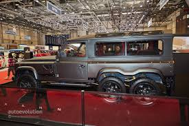 kahn land rover defender double cab kahn design u0027s flying huntsman 6x6 reminds us of the spider in