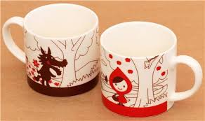 cool cups in the hood 2 decole otogicco red riding hood wolf fairy tale cups cups mugs