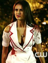 Bloody Nurse Halloween Costume Nina Dobrev Official Elena U0027s Nurse Halloween Costume