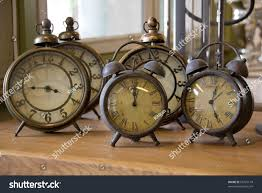 Old Fashioned Alarm Clocks Collection Vintage Alarm Clocks Stock Photo 55797118 Shutterstock