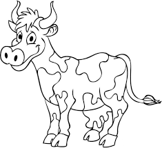 coloring farm animals free kids cow coloring pages cow coloring