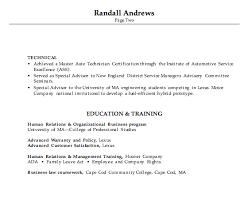 automotive resume 18 combination resume example automotive service