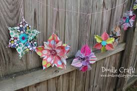 doodlecraft 3d ornament snowflake banner bunting