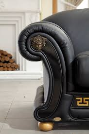 Versace Living Room Furniture Esf Versace Black Sofa Set