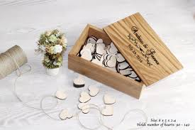 wedding wishes box wooden box for hearts guest book alternative wedding wishes box