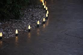 christmas christmas pathway lights cool white led at target