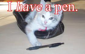 Pen Meme - i have a pen cat meme cat planet cat planet