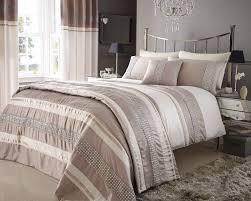 beige u0026 cream colour stylish lace diamante duvet cover luxury