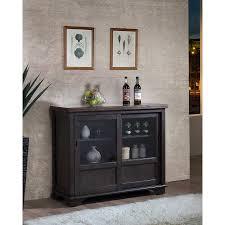 Sliding Door Storage Cabinet by Grey Brown Wood Buffet Sideboard Server Display Storage Cabinet