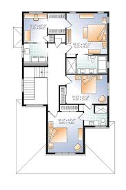Narrow Lot Floor Plans by Narrow Lot Northwest House Plan 22406dr Architectural Designs