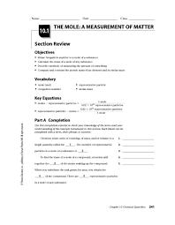 measuring matter worksheet 8th grade the mole a measurement of