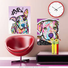 baby pit bull dean russo pop art wall decal pet wall decor