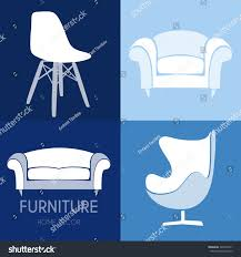 sofa business sign set vector template stock vector 324226571