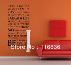 Family House Rules by Aliexpress Com Buy Promotion Large 110x55cm Family House