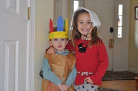 Thanksgiving Costumes Child Pilgrim Indian Easy Homemade Indian Pilgrim Crafts Kids