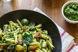 pasta salad pesto gluten free pasta salad pesto caprese ancient harvest