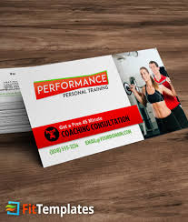 Microsoft Word Template Business Card Fitness Trainer Business Card Template