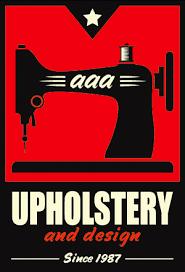aaa upholstery logo concept 2 hi five design