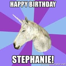 Unicorn Meme Generator - happy birthday stephanie asmr unicorn meme generator