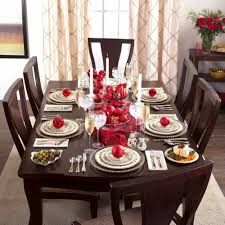decorating dining room tables christmas dining room decoration table setting holly berry holiday