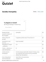 inheritance pattern quizlet genetics hemophilia flashcards quizlet haemophilia coagulation