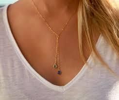 Custom Birthstone Necklaces Best 25 Birthstone Necklace Ideas On Pinterest Dainty Necklace