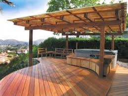 How To Build A Pergola On An Existing Deck by Gorgeous Decks And Patios With Tubs Diy