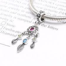 diy bracelet pandora beads images Original 100 925 sterling silver dream catcher dangle charm jpg