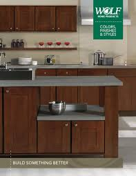 wolf home products cabinets wolf designer cabinets styles colors brochure 042115 v1 tag by