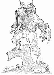alien vs predator coloring pages 10 within omeletta me