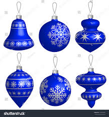 blue silver balls set isolated stock vector 761362684