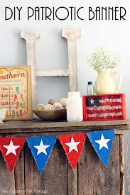 diy patriotic banner the country chic cottage