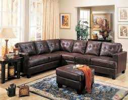 tufted leather corner sectional color tufted leather sectional