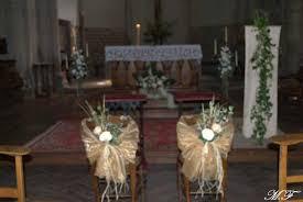 chaise d église déco de mariage