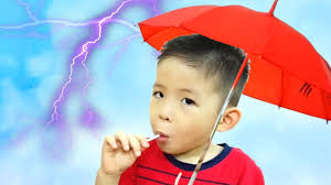 bad kids learn colors with colored rain umbrellas for babies kids