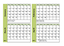 2017 monthly calendar appointment free printable templates