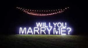will you marry me signs in lights marriage proposal photos