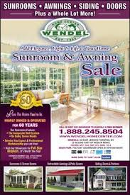don t miss wendel home center s sunroom awning sale special