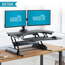 small electric standing desk varidesk australia height adjustable standing desks
