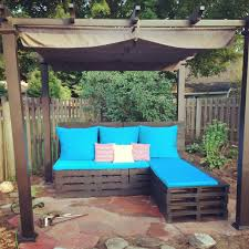 How To Make Patio Furniture Out Of Pallets by Pallet Patio Furniture Made By Newlyweds Drew U0026 Alicia Out Of